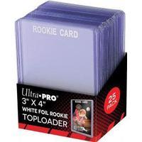 "Toploader, ""rookie"" vit text, 25-pack"
