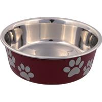 Trixie Stainless Steel Bowl With Plastic Coating 2.2l