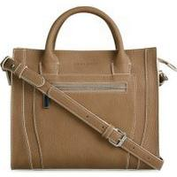 Laura Ashley Latte Brown Grab Bag with Stitch Detail