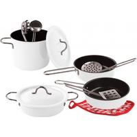 Magni Cookware Set in White Enamel 2445