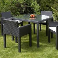 Chairs Plus More St Tropez Matgrupp 1000x1000 Cappuccino 4 Svart