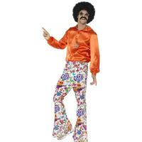 Smiffys 60's Groovy Flared Trousers Mens