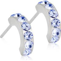 - Titanörhängen Pendant Brilliance Curved Alexandrite, blå