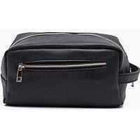 boohoo Black PU Washbag