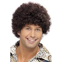 Smiffys 70's Disco Dude Wig Brown