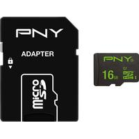 PNY Performance MicroSDHC Class 10 USH-l U1 50/10MB/s 16GB+Adapter
