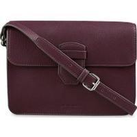 Laura Ashley Purple Flap Detail Shoulder Bag