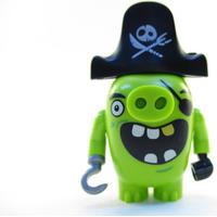 Lego figur angry birds figs - pig green piggy pirat pirate
