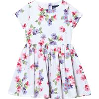 Lands  End Lands End Sateen Twirl Dress Painted Floral (472175)