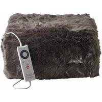 Dreamland Relaxwell Deluxe Faux Fur Heated Throw