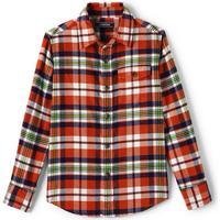 Lands  End Lands End Flannel Shirt - Lava Orange Plaid (471626)
