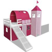 vidaXL Children's Loft Bed with Slide & Ladder