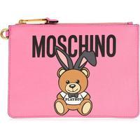 MOSCHINO Playboy Teddy Clutch Bag Pink 1208