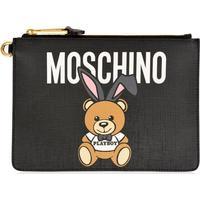 MOSCHINO Playboy Teddy Clutch Bag Black 1555