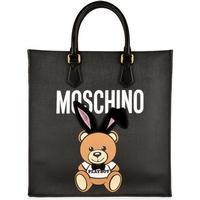 MOSCHINO Playboy Teddy Shopper Bag Black 1555