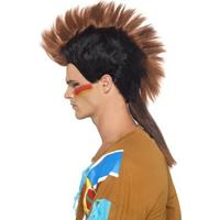 Smiffys Native American Inspired Male Mohican Wig Brown