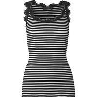 Rosemunde Lace Top Black Ivory Stripe (5205-5097)