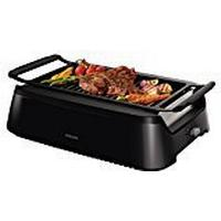 Philips HD6370/91 Smokeless Indoor Grill, 1600 W, Black
