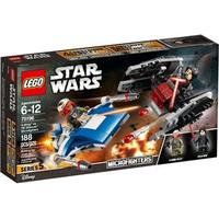 Lego Star Wars A-Wing vs TIE Silencer Microfighters 75196