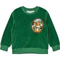 Mini Rodini Fox velour sweatshirt - Green (1772016675)
