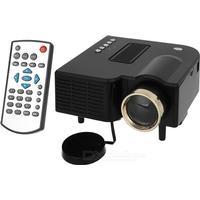 Consumer Electronics Mini Portable 1080P HD Home LED Projector w/ AV£¬ SD£¬ VGA£¬ HDMI - Black