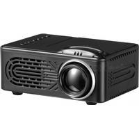 Consumer Electronics Mini Portable 1080P HD LED Projector for Home Use - Black (US Plug)