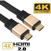 Consumer Electronics Cwxuan HDMI Male to HDMI Male 2.0 4K 3D Cable for HD TV LCD Laptop PS3 Projector Computer - Black (1.8m)