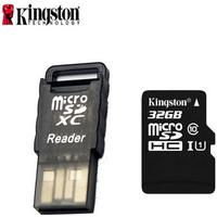 Consumer Electronics Kingston Class 10 32GB Micro SD / TF Card w/ Card Reader - Black