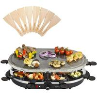 Andrew James Rustic Stone Raclette Colour: Black
