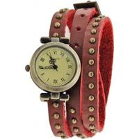 Classic Elegant Leather Strap Roma Number Dial Quartz Woman Watch