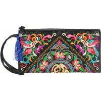 Retro Embroidered Handbag Purse With Tassel
