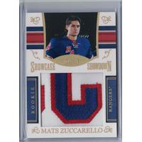Mats Zuccarello 2010-11 Dominion Rookie Showcase Showdown Colossal Names and Numbers #6 41/50