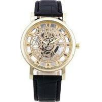 Geneva Speed and Passion Gear Hollowed Watch Double Perspective Men Quartz Watch