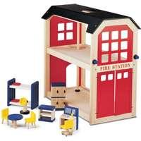 våningssäng leksaker. Brandstation med Möbler - Pintoy ac284e0044b44