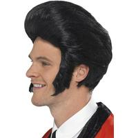 Smiffys 50's Quiff King Wig Black