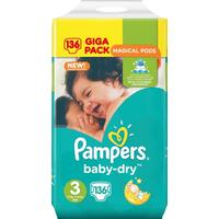 Procter & Gamble Pampers Baby-Dry S3 5-9 kg 136 st
