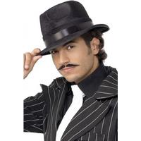 Smiffys Indestructible Fedora Hat Black
