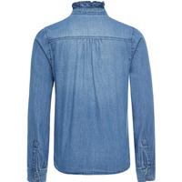 Name It Flounce Denim Shirt - Blue/Light Blue Denim (13144945)