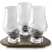 Glencairn Whiskyglas smagsprøve sæt med 3 glas (19 cl.) og bakke