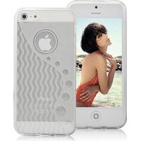 iPhone 5/5s/SE -Wave TPU cover - Hvid