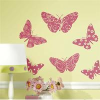 Roommates Wallstickers sommerfugle i velour