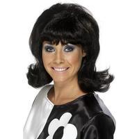 Smiffys 60's Flick-Up Wig Black