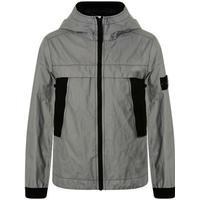 STONE ISLAND Junior Boys Camp Reflective Jacket - Black V0029 - 12 Yrs