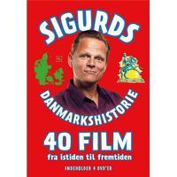 Sigurds Danmarkshistorie 40 film - 4 dvd'ere