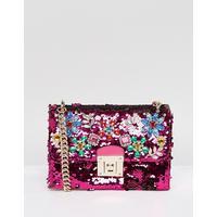 ALDO All Over Sequin Cross Body Bag with Floral Gem Embellishment