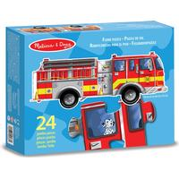 Melissa & Doug Giant Fire Truck Floor Puzzle 24 Pieces