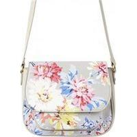 Joules Darby Print Cross Body Bag Grey Whitstable Floral