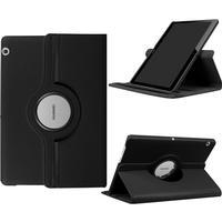 "Huawei MediaPad T3 10"" - Läder fodral Litchi skin vikbart - svart"