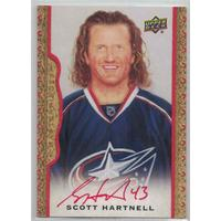 Scott Hartnell 2014-15 UD Masterpieces Autographs Framed Red Cloth #74 06/30