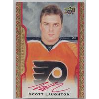Scott Laughton 2014-15 UD Masterpieces Autographs Framed Red Cloth #67 05/30
